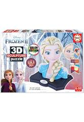 Puzzle Color 3D Escultura Frozen 2 Elsa Educa 18374