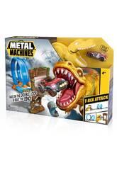 Metal Machines T-Rex Attack con Vehículo de Metal Zuru 11005213