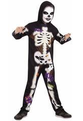 Déguisement pour Enfant squelette Chuli S Rubies S8537-S