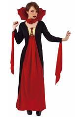 Disfarce Mulher Vampira Gótica Vermelha Rubies S8365