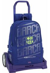 Mochila com Carro Evolution F.C. Barcelona 2ª Equipamento Safta 611826860