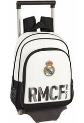 Zaino con Carrello 705 Real Madrid 1° Kit Safta 611854020