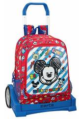 Evolution Mickey Mouse Maker Rucksack mit Trolley Safta 611914860