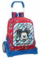 Zaino con Carrello Evolution Mickey Mouse Maker Safta 611914860
