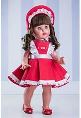 Rotes Kleid mit Kapuze Mariquita Pérez MP20210
