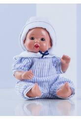 Mini Juanin Bebé Macacão Celeste Listrado Mariquita Pérez MJB05059