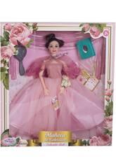 Poupée Collection 29 cm. Rose Mariage avec des Accessoires
