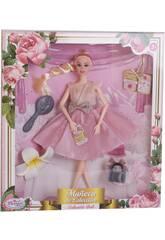Poupée Collection 29 cm. Rose Fête 3 Accessoires