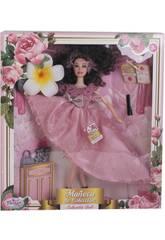Bambola Manichino Collezione 29 cm. Rosa Stampa con Accessori