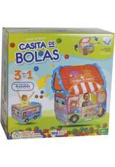 Casa Tela Autobús con 100 Bolas 6 cm.