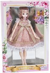 Bambola Stile Giappone 29 cm. Vestito Rosa Lunari