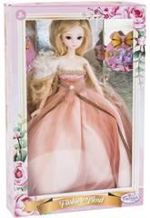 Muñeca Estilo Japón 29 cm. Vestido Rosa Novia