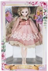 Muñeca Estilo Japón 29 cm. Vestido Rosa