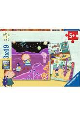 Puzzle Peg+Cat 3x49 Piezas Ravensburger 080595