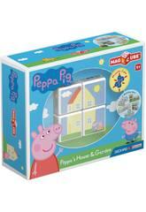 Geomag Magicube Peppa Pig Maison et Jardin Toy Partner 50