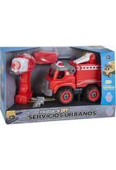 Camion de Pompier avec Tournevis et Perceuse