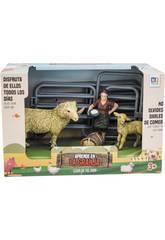 Fattoria Set con 2 Pecore e Contadina