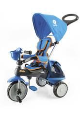 Triciclo Ranger 3 in 1 Blu con Cappotta QPlay T120