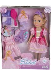 Boneca Princesa Elsie 40 cm. com Vestido e Acessórios