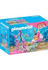 Playmobil Starter Pack Carruaje Caballitos de Mar 70033
