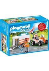 Playmobil Quad de Secours avec Remorque 70053