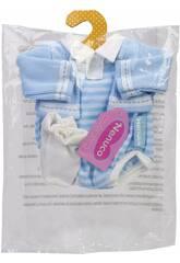 Nenuco Ropita En Percha 35 cm. Conjunto Azul con Patucos Famosa 700015615