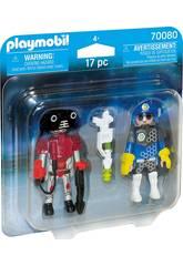 Playmobil Duopack Polícia do Espaço e Ladrão 70080