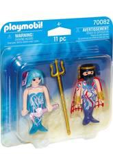 Playmobil Duopack Re del Mare e Sirena 70082