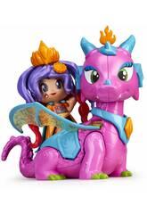 Pinypon Figura Queen y Dragón Famosa 700015547