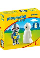 Playmobil 1,2,3 Cavaliere con Fantasma Playmobil 70128
