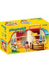 Playmobil 1,2,3 Mi Primera Granja Maletín Playmobil 70180