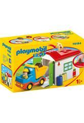 Playmobil 1,2,3 Camião com Garagem Playmobil 70184