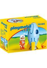 Playmobil 1,2,3 Astronauta com Foguete Playmobil 70186