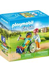 Playmobil Paziente in Sedia a Rotelle 70193