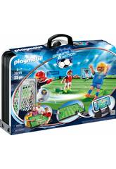 Playmobil Mallette Terrain de Football 70244