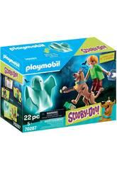 Playmobil Scooby-Doo Scooby e Shaggy com Fantasma 70287