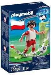 Playmobil Joueur de Footbal Pologne 70486