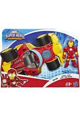 Avengers Super Hero Adventures Iron Man com Carro Hasbro E6257