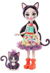 Enchantimals Poupée Ciesta Cat avec Chat Climber Mattel GJX40