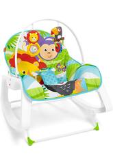 Fisher Price Seggiolino Dondolino Cresci Con me Blu Mattel GNV69