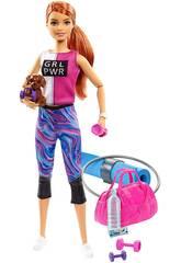 Barbie Benessere Palestra con Cane e gli Accessori Mattel GJG57