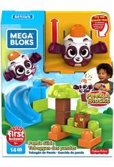 Mega Bloks Panda Lança e Roda De Peek a Block Mattel GKX68