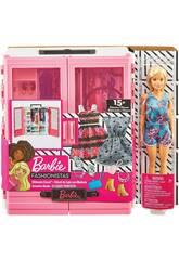 Barbie Super Armadio con Bambola e Accessori Mattel GBK12