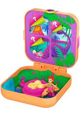 Polly Pocket Mundo Sorpresa Lila y Dinosaurio Mattel GKV10
