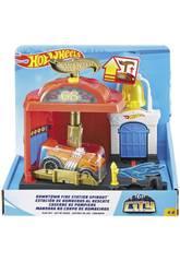 Hot Wheels City Downtown Stazione dei Vigili del Fuoco al Soccorso Mattel FMY96