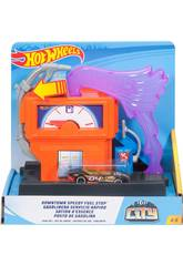 Hot Wheels City Downtown Distributore di Benzina Mattel FMY97