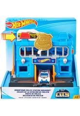 Hot Wheels City Downtown Stazione di Polizia Mattel FNB00
