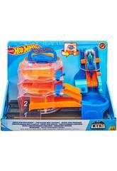Hot Wheels City Súper Concessionário Giratório Mattel GBF95