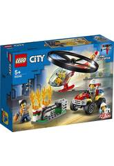 Lego City Fire Intervención del Helicóptero de Bomberos 60248