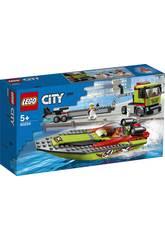 Lego City Grandes Veículos Transporte da Lancha de Corridas 60254